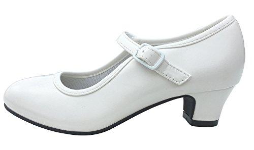 La Senorita Spanische Flamenco Schuhe - Weiß - Größe 38 - Innenmaß 24 cm