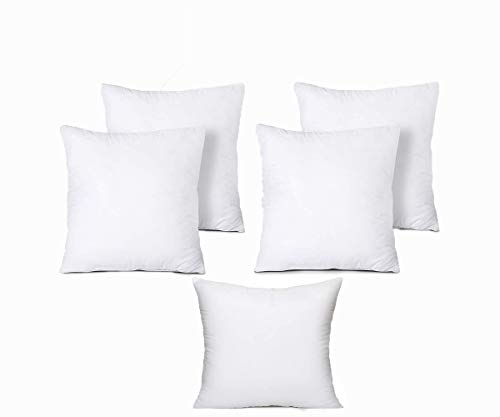 Iyan Soft Furnishing Set of 5 60cm x 60cm Cushion Pad Stuffer Pillow - Cushion Inserts Square Polyester Hollowfibre - 24 x 24 Inch MADE IN UK (Pack of 5)