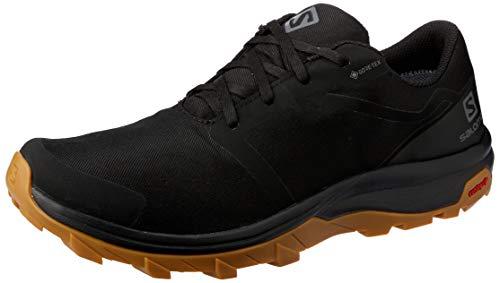 Salomon Men's Outbound GTX Hiking Shoes, Black/Black/GUM1A, 11.5
