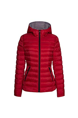 HFX Women's Lightweight Packable Jacket, Red/Silver, Small