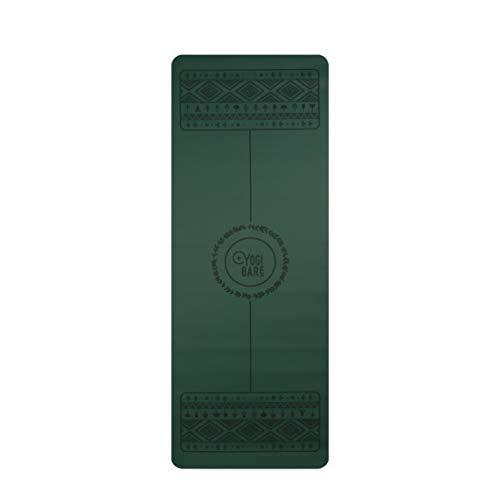 Yogi Bare Wild Paw 4 mm – Tappetino per esercizi yoga – Eco Friendly superficie in gomma naturale con allineamento del corpo – verde