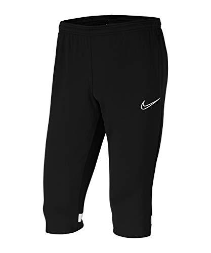 Nike, Dri-Fit Academy, Pantaloni 3/4, Nero/Bianco, S
