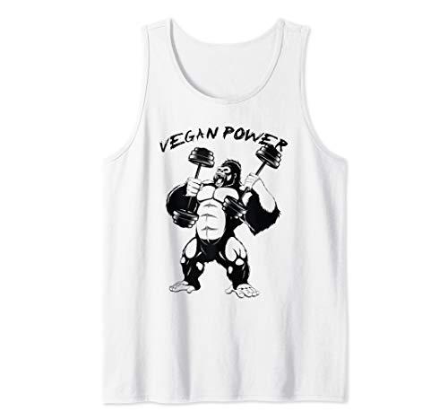 Vegan Power Awesome Bigfoot BodyBuilding Funny Gift Tank Top