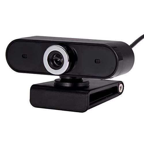 Schimers Webcam, computer webcam videocamera met microfoon, autofocus, helder stereogeluid, belichtingscompensatie, USB-aansluiting, voor Skype, FaceTime, Hangouts, enz, PC/Mac/ChromeOS/Android