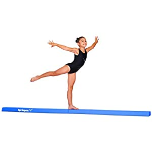 Springee 9ft Balance Beam – Extra Firm – Vinyl Folding Gymnastics Beam for Home