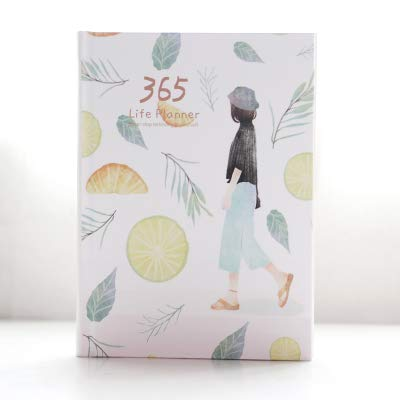 Zdzqtm Corea 365 días de diario personal Planificador Hardcover diario del cuaderno de 2017 Oficina Horario semanal de escritorio lindos (Color : 7, Size : A5)