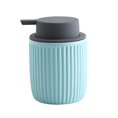Dispensador de jabón Dispensador de loción Dispensador de jabón líquido de cerámica para lavado corporal, champús, cremas, aceites esenciales Botella líquida duradera Hermoso regalo de recinto domésti