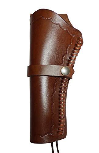 Holster Westernholster Rechts oder Links braun Handarbeit Rindsleder Peacemaker Colt (Linkshänder)