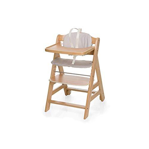 WWWWWWW-DENG barkruk, voor babystoelen, eettafel, stoelen, multifunctioneel, verstelbaar, antislip, draagbare zitting, kleur: houtkleuren, maat: groot