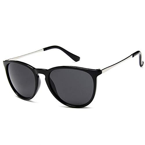 YDXC Gafas de Sol Vintage Round para Hombre Mujeres Retro Metal Shades Gafas de Sol Leopardo Gafas aplicar al Trabajo por Ordenador o Conducir y Otras Actividades al Aire Libre-Black