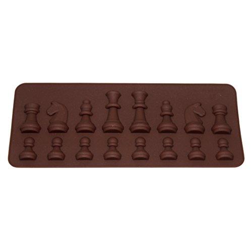 Millya - Molde de silicona con forma de ajedrez, para tartas, fondant o pasteles.