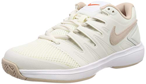 Nike W Air Zoom Prestige HC, Scarpe da Tennis Donna, Multicolore (Phantom/Particle Beige/Sail/Orange Blaze 044), 38.5 EU