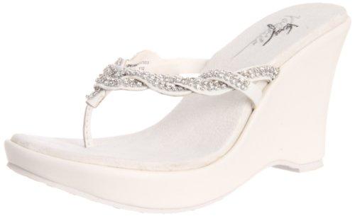 Very Volatile Women's Bridal Sandal,White,9 B US