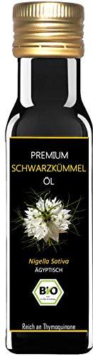 Premium BIO Schwarzkümmelöl - 1. Pressung - 100% kaltgepresst - 100% ägyptisch - 100% ungefiltert und naturrein - 100 ml Lichtschutzflasche - mühlenfrisch direkt vom Hersteller