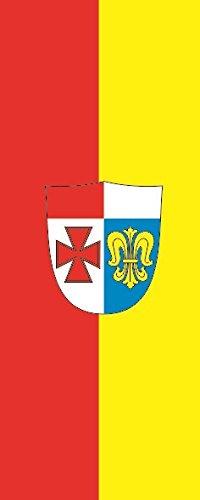 U24 Fahne Flagge Landkreis Augsburg im Hochformat Premiumqualität 80 x 200 cm