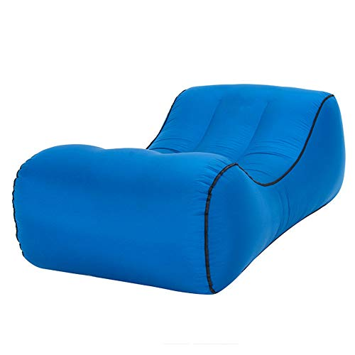 BIBOKO Lazy Bag - Sofá hinchable de nailon impermeable para camping, viajes, portátil, ultraligero, para la playa, para dormir, plegable