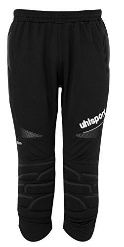 UHLSPORT - ANATOMIC Short Long Gardien - Pantalon Gardien Football - Renfort Hanches et Genoux - Ceinture Elastique - noir - FR : S (Taille Fabricant : S)