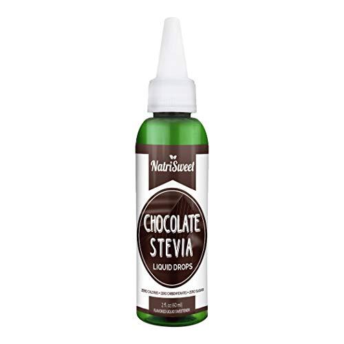Natrisweet Stevia gocce di liquido a zero calorie naturale sostituto dello zucchero altamente concentrato Stevia Estratto Naturale Dolce (cioccolato)