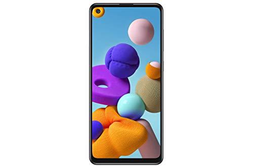 Samsung Galaxy A21s (A217F) 128 GB, Dual SIM, pantalla Infinity-U de 6,4 pulgadas, cámara triple, GSM desbloqueado Smartphone – Modelo internacional (plata)