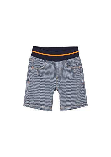 s.Oliver Unisex - Baby Streifen-Shorts mit Umschlagbund blue 80