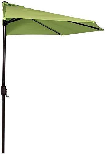 WGFGXQ Sombrilla de jardín Grande/sombrilla de balcón/Media sombrilla/Parasol/semicircular/Elevador de manivela/ventilado/270cm/fiesta de Boda/Restaurante/pequeño bistró/Verde