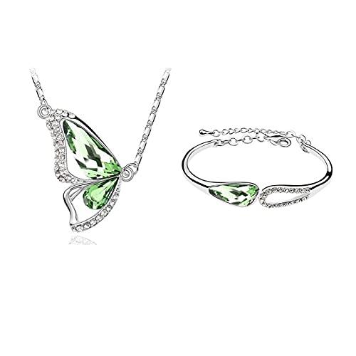 HMANE Conjunto de Joyas chapadas en Diamantes de imitación Estilo Vogue Pulsera/Collar...