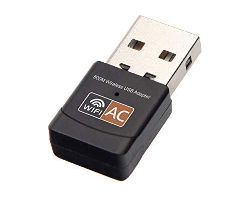 Tegcare - Adattatore wireless 600 Mbps USB WiFi AC600 2,4 GHz 5 GHz WiFi Antenna 20 g
