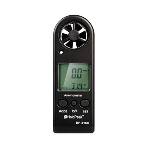 Zcyg Anemometer Wind Speed Meter Digital Windmeter Luftgeschwindigkeit Temperaturmessgerät, for RC Drohnen Hubschrauber Windsurfen Kite Flying Etc