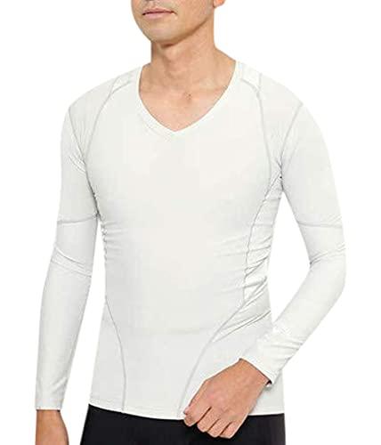 [キャロウェイ] [メンズ] 速乾 長袖 Vネックシャツ (トレーニングウェアシリーズ) / 241-9932501 / ゴルフ インナー 020_グレー 日本 L (日本サイズL相当)