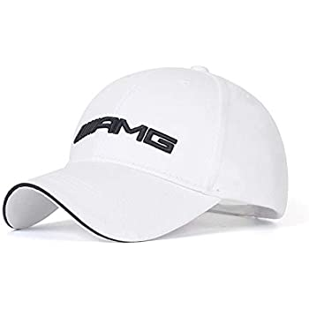 Wall Stickz BearFire Logo Embroidered White Color Adjustable Baseball Caps for Men and Women Hat Travel Cap Racing Motor Hat (fit amg)