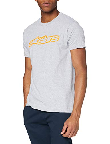 Alpinestars Blaze Classic - Herren T-Shirt, Grau (HEATHER GRAY/ORANGE), M