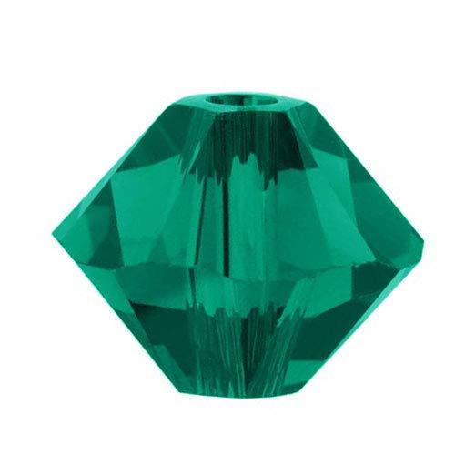Swarovski Kristall, #5328 Bicone Perlen, 2.5mm, 20 Stück, smaragdgrün