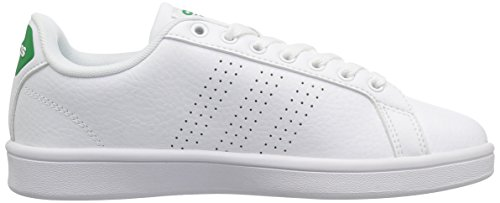 adidas Cloudfoam Advantage Clean, Chaussures Homme - - Blanc/Vert, 43 EU EU