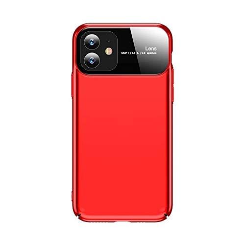 BANAZ para iPhone 11 Magic Mirror Series Hockproof PC + Funda Protectora de Vidrio (Color : Red)
