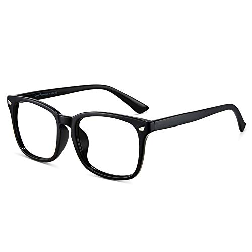 Cyxus Blue Light Blocking Computer Glasses Square Retro Clear Lens Eyeglasses Frame