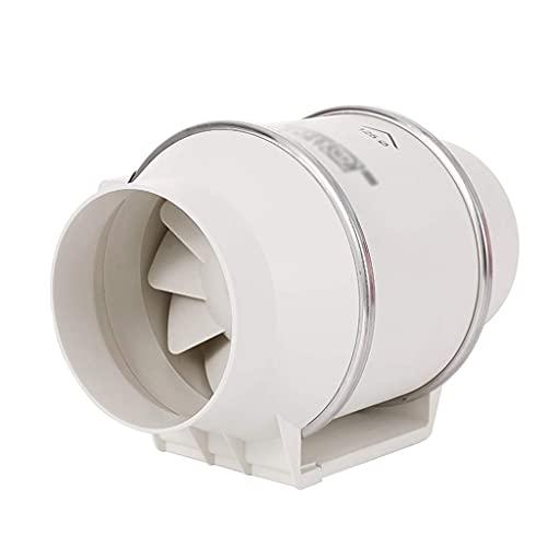 Extractor De Aire, Extractor Cocina Ventilador de escape, ventiladores para el hogar Ventiladores de escape Ventilador de ventilación del hogar Ventilador de conducto de 5 pulgadas Adecuado para baño