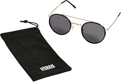 Urban Classics Unisex Sunglasses Palermo Sonnenbrille, black/gold, one size