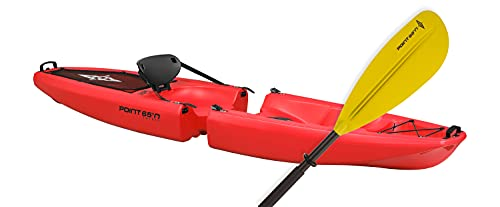 Point 65 Sweden Falcon Modular sit-on-top Solo Kayak Red with Paddle