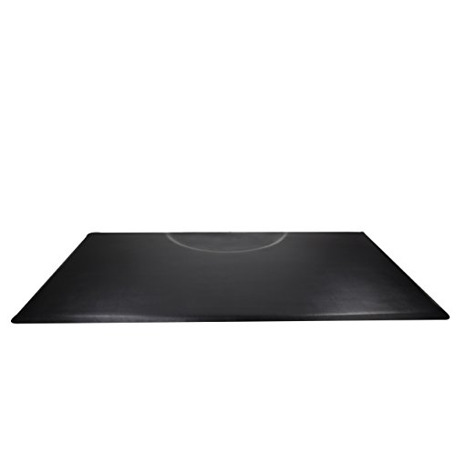 Berkeley Anti-fatigue Commercial Grade RECTANGLE Salon Mat 3x5 BLACK EXTRA-THICK Wholesale Barbershop Mat Best Seller for Styling or Barber Chair Standing Comfort