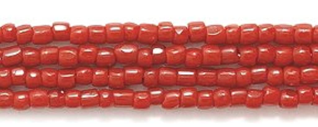 Preciosa Ornela Czech 3-Cut Style Seed Glass Bead, 12/0-Size, Opaque Dark Red
