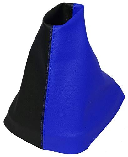 Aerzetix schakelmanchet van kunstleer met variabele naden (zwart en blauw)