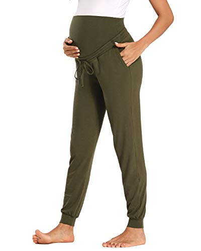 Glampunch Women's Maternity Casual Pants Stretchy Comfy...