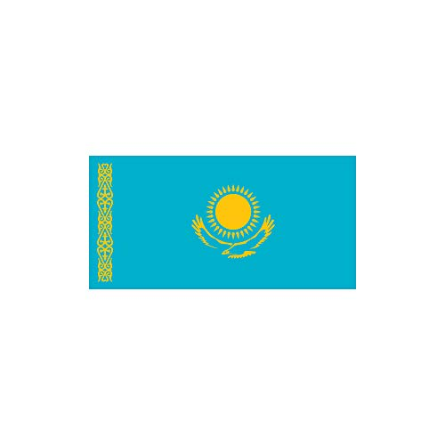 5 x Kasachstan Tattoo Fahne - Temporary Fan Tattoo Flag (5)