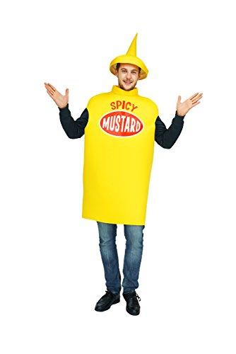 flatwhite Erwachsenen-Kostüm Senf, Einheitsgröße