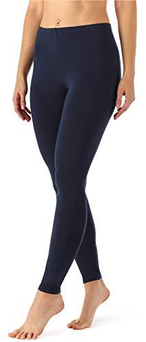 Merry Style Damen Lange Leggings aus Viskose MS10-143 (Dunkelblau, XS)