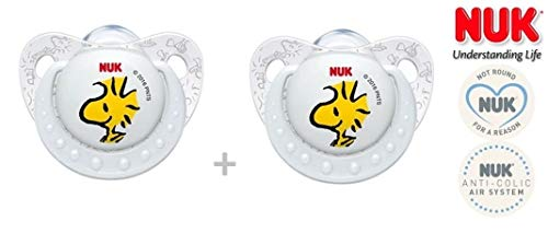 NUK'PEANUTS SNOOPY' - 1x Anatomical Silicone Pacifiers Soothers Dummies/WHITE YE(6-18m)