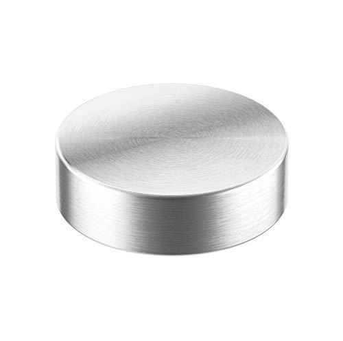 Gedotec Glasadapter rund für Barkonsole schräg Barstütze flach & eckig | Durchmesser 50 mm | Edelstahl massiv | Adapter inkl. Befestigungsmaterial | Made IN Germany | Möbelbeschläge | 1 Stück