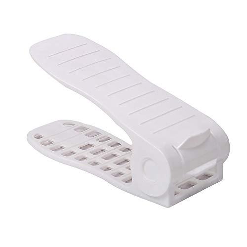 Super1798 - Estante Organizador de Zapatos para el hogar, Doble Cubierta, Grueso, Ajustable, 2 Unidades, Ahorra Espacio