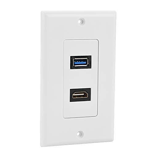 Enchufe USB Flexible, Enchufe de Pared USB, para el hogar Sin Soldadura Cableado de ingeniería fácil de conectar