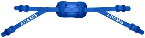 Adams USA PRO-100-4S 4-Point Low Football Chin Strap with Sewn Straps, Royal Blue
